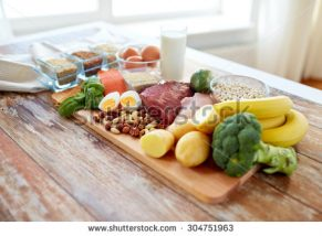 stock-photo-balanced-diet-cooking-culinary-and-food-concept-close-up-of-vegetables-fruit-and-meat-on-304751963